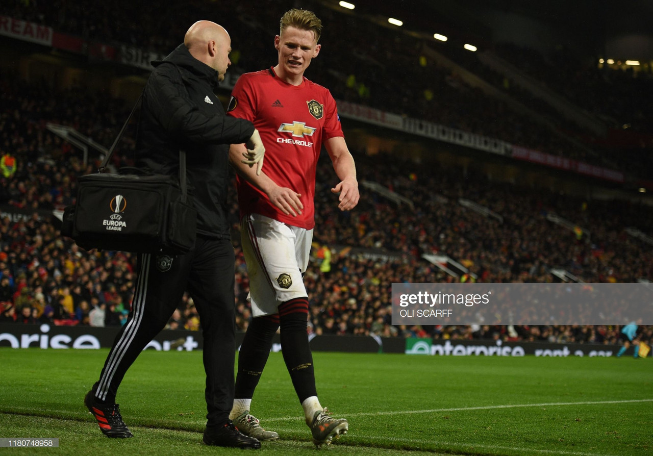 Who would replace injured McTominay in United's team vs Brighton?