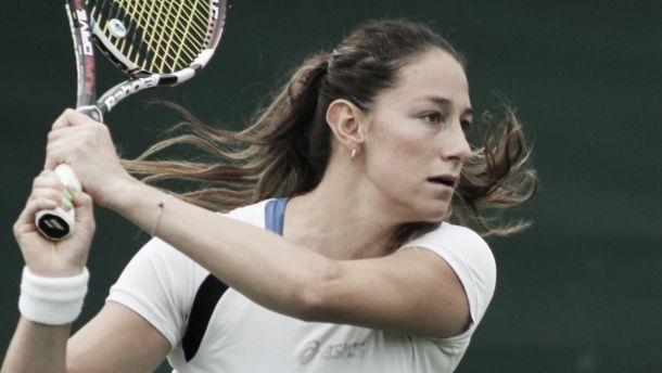 Mariana Duque no pudo con Sharapova
