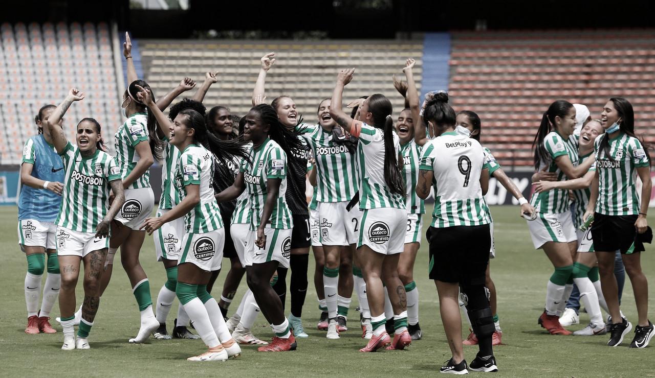 Atlético Nacional celebró su clasificación frente al Atlético Bucaramanga