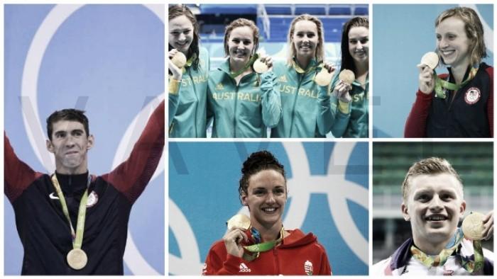 Rio 2016: Medallero y nuevos records en natación