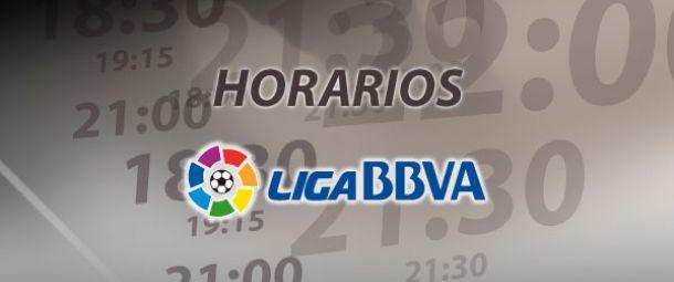 Horarios de las jornadas 10 y 11 de la Liga BBVA