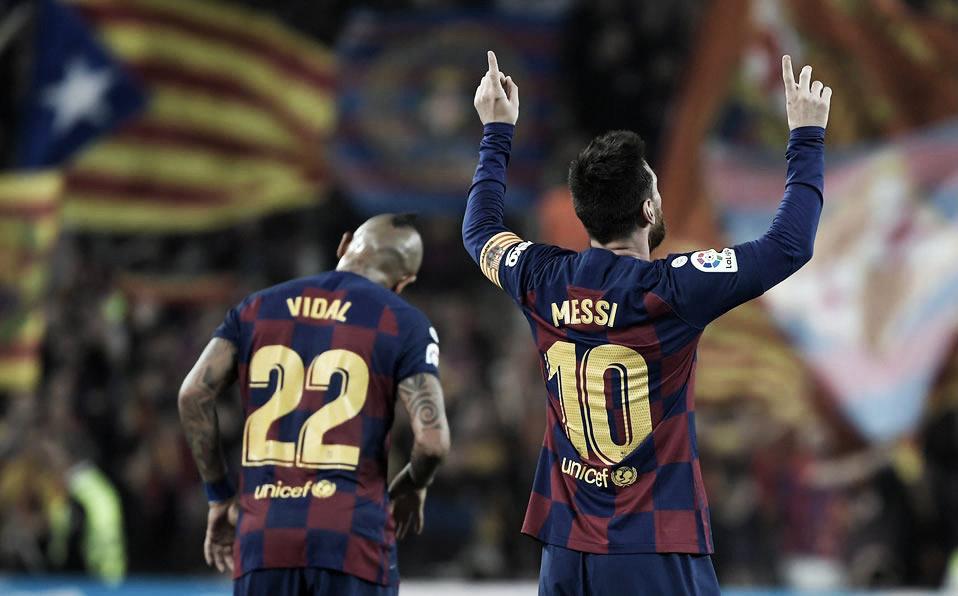 Messi brilla y exige el Balón de oro