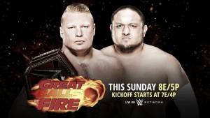 Cartelera WWE Great Balls Of Fire 2017