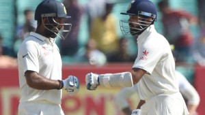 India vs England - First Test, Third Day: Vijay and Pujara make England toil before late wickets intervene