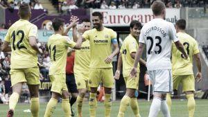 El Villarreal se exhibe en Gales y golea al Swansea