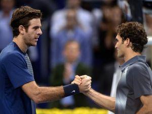 Un Federer inspirado eliminó a Del Potro