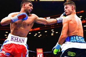 Khan gets closer to Mayweather after Algieri win