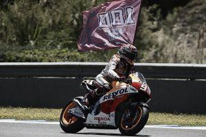 Marc Márquez, el más rápido en el test postcarrera de Jerez