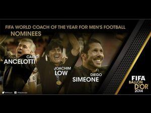 Simeone opta al premio al mejor entrenador