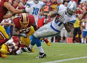 Calvin Johnson decide en un apretado duelo entre Lions y Redskins