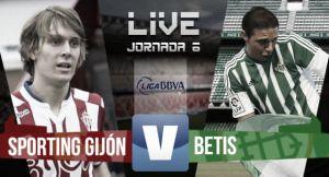 Resultado Sporting de Gijón vs Real Betis (1-2)