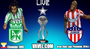 Nacional vs Junior, Final Liga Postobón 2014 en vivo online