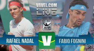ATP 500 Barcellona, risultato Fognini - Nadal 2-0 (6-4 7-6)