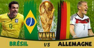 Live Coupe du Monde 2014 : Brésil vs Allemagne en direct