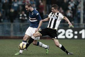 Sampdoria arranca empate da Udinese em jogo disputado e segue na parte superior da tabela