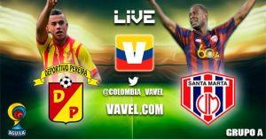 Pereira vs Unión Magdalena, Cuadrangulares de Ascenso en vivo y en directo online