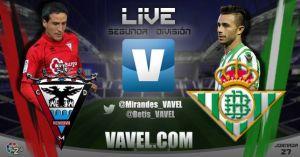 Resultado Mirandés vs Real Betis (0-0)