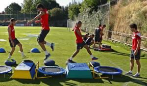 Adrián, única baja por sobrecarga en el entreno del Atlético de Madrid