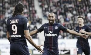 Ligue 1, Lucas e Cavani spingono al secondo posto il Paris Saint Germain: il Nancy si arrende 1-2 al Picot