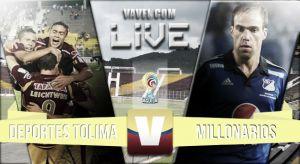 Deportes Tolima vs Millonarios en vivo online (1-0)