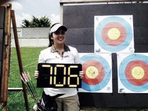 Sara López logró imponer un nuevo récord mundial en el tiro con arco
