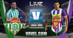 Resultado Real Betis - Real Valladolid en directo online (4-0)