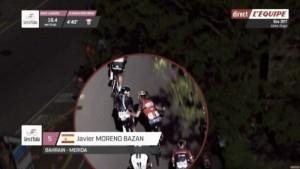 Javier Moreno, expulsado del Giro de Italia