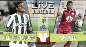 Resultado final: Nacional vs Santa Fe por la Liga Águila 2016 (0-1)