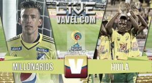 Resultado final: Millonarios vs Huila por la Liga Águila 2016 (2-1)