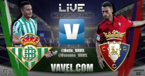 Resultado del Betis vs Osasuna en la Liga Adelante (3-0)