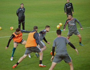 Alfaro vuelve a entrenarse con el grupo