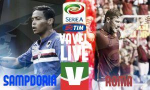 Live Sampdoria - Roma, risultato partita Serie A 2015/2016  (2-1)