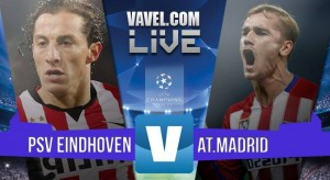 PSV Eindhoven Vs Atletico Madrid in Champions League 2015/2016 (0-0): pareggio senza reti al Philips Stadion