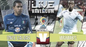 Once Caldas vs Jaguares en vivo online en Liga Águila 2016-I (0-0)