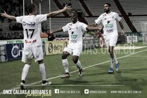 Once Caldas ganó, goleó y gustó ante Jaguares