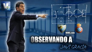 Observando a Javi Gracia ante el Espanyol