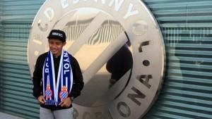 Evan Dimas se formará como futbolista en el Espanyol