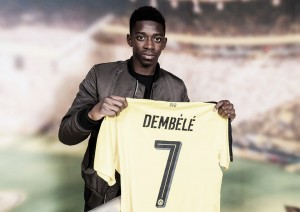 Vídeo: Dembélé ya luce el '7' borusser