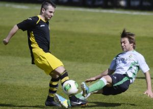 El filial verdiblanco poco pudo hacer frente a un acertado Club Deportivo Bezana