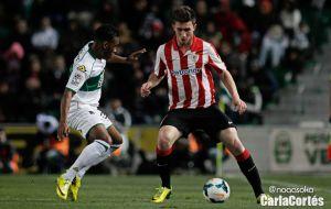 Resultado Athletic de Bilbao vs Elche en Liga BBVA 2015 (1-2)