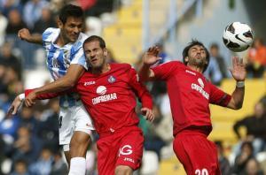 El Málaga se recupera a costa del Getafe