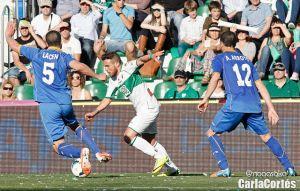 Arroyo y Michel, bajas ante el Atlético de Madrid
