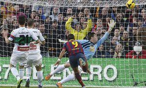 Barcelona - Elche: puntuaciones del Elche, jornada 18