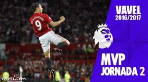 Zlatan Ibrahimovic, MVP de la jornada 2 de Premier League