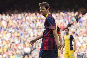 Leo Messi celebra sus catorce años en el Barça