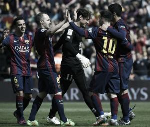 Barcelona 6-1 Rayo Vallecano: Messi scores hat-trick and puts Blaugrana top of the table