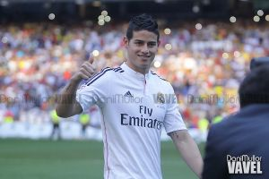 James, el primer colombiano en marcar con el Real Madrid