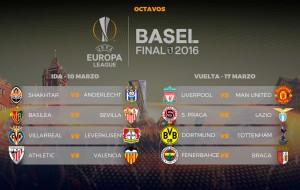 Sorteados los octavos de final de la UEFA Europa League