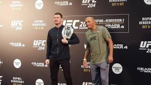 UFC 204: Bisping vs Henderson 2 media staredown