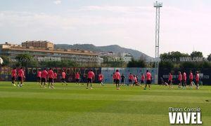 Fotos e imágenes del entrenamiento previo al partido frente al Nápoles